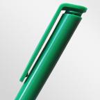 Шариковая ручка с белым пластиковым корпусом