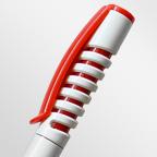 Шариковая ручка с матовым пластиковым корпусом и цветным клипом